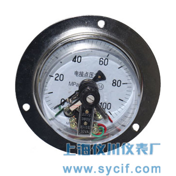 磁助式带前边电接点压力表